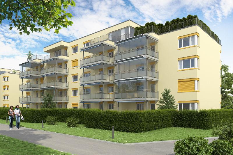Balkonerweiterung mit Fassadensanierung in Steinhausen
